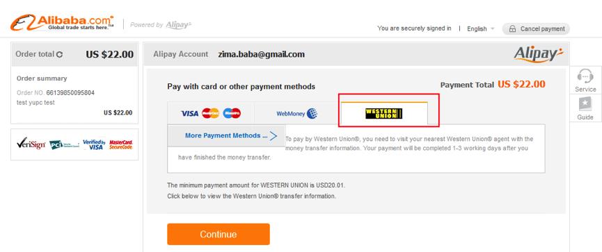 Payment zozav for Shopping cart template for blogger